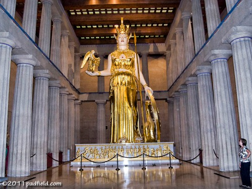 Athena in the Parthenon in Nashville, Tennessee. Photo by David Padfield.