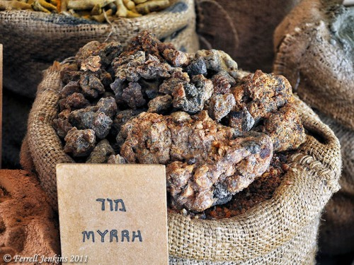 Myrrh displayed at Avdat, a stop on the Incense Route. Photo by Ferrell Jenkins.