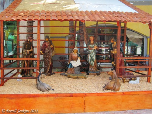 Nativity Scene at Cozumel. Photo by Ferrell Jenkins.