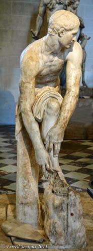 Hermes Putting on Sandal. Louvre. Photo by Ferrell Jenkins.