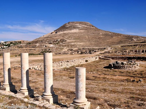 The Herodium with ruins of Herodia in the foreground. Photo by Ferrell Jenkins.