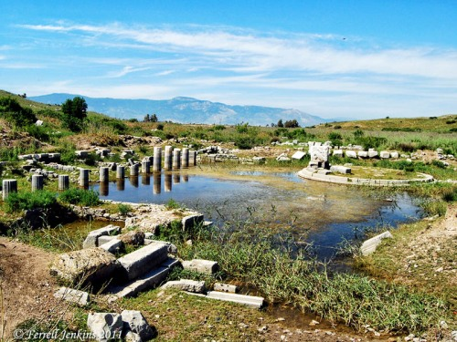 Ruins of the large harbor at Miletus. Photo by Ferrell Jenkins.