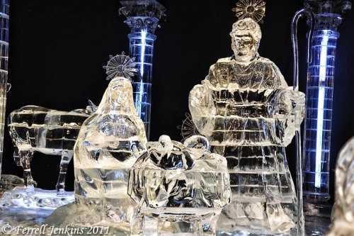 Portion of the Nativity Scene at ICE, Gaylord Palms. Photo by Ferrell Jenkins.