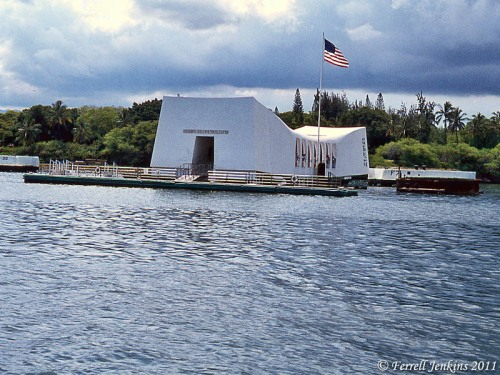 USS Arizona Memorial at Pearl Harbor. 1982 Photo by Ferrell Jenkins.