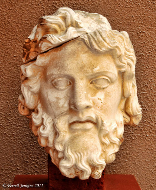 Bust of Zeus in the Ephesus Museum. Photo by Ferrell Jenkins.