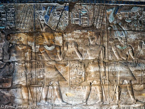 Relief of Alexander making an offering at Karnak. Photo by Ferrell Jenkins.