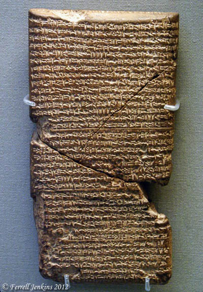 Babylonian Chronicles for years 615-609 B.C. British Museum. Photo by Ferrell Jenkins.