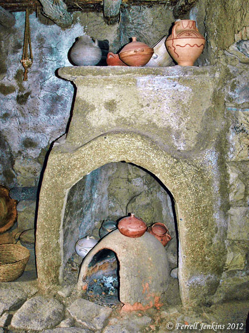 An oven inside a chimney at Qatzrin. Photo by Ferrell Jenkins.