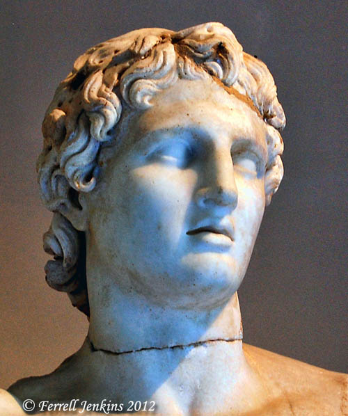 Bust of Alexander in the Istanbul Archaeological Museum. Photo by Ferrell Jenkins.