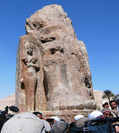 Colossian statue of Amenhotep III - Luxor Times.