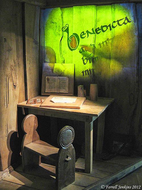 Scribe Exhibit at Glendalough, Ireland. Photo by Ferrell Jenkins.