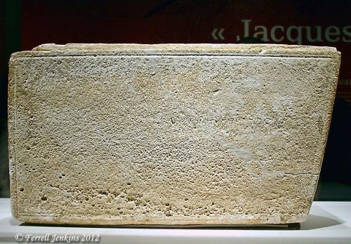 James Ossuary at the Royal Ontario Museum - Nov. 22, 2002.