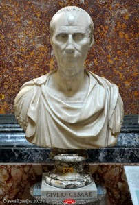 Bust of Julius Caesar in Vatican Museum. Photo by Ferrell Jenkins.
