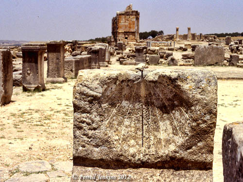 Ruins of the Roman City of Volubilis in Morocco. Slide by Ferrell Jenkins, 1980.