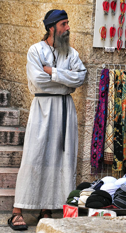 Vendor in the Jewish Quarter of Jerusalem. Photo by Ferrell Jenkins.