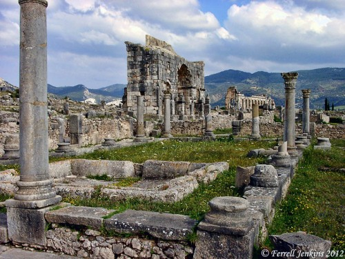 Ruins of Roman Volubilis in Morocco. Photo by Ferrell Jenkins 2000.