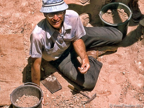 Dr. James A. Hodges in the Section at Lachish, 1980. Photo by Ferrell Jenkins.