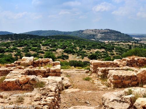 Iron Age Gate view a view toward Azekah. Photo by Ferrell Jenkins. May, 2011.