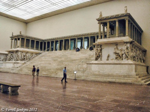 The reconstructed Pergamum Altar of Zeus in Berlin. Photo by Ferrell Jenkins.