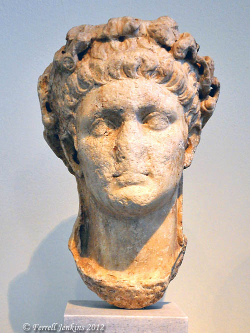 The Roman Emperor Claudius in the Athens National Museum. Photo by Ferrell Jenkins.