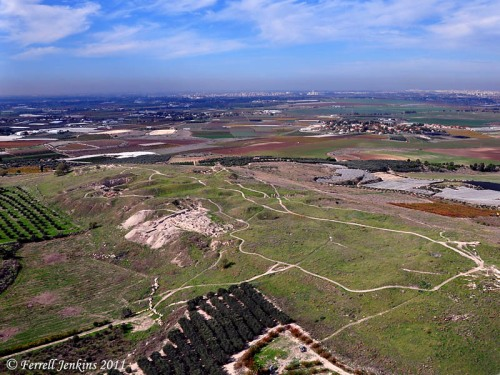 Gezer Aerial View. Photo by Ferrell Jenkins.