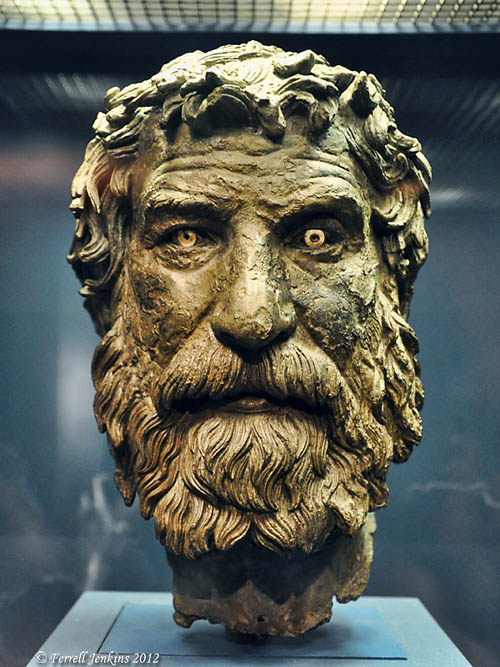 The Antikythera Philosopher. Athens National Museum. Photo by Ferrell Jenkins.