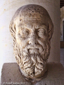 Herodotus Bust displayed in the Stoa of Attalus, Athens Agora