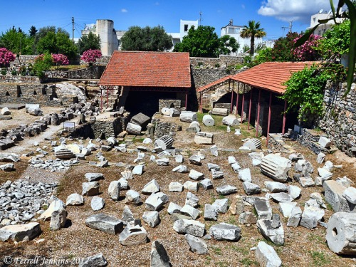 Halicarnassus. Site of the tomb of King Mausolos. Photo by Ferrell Jenkins.