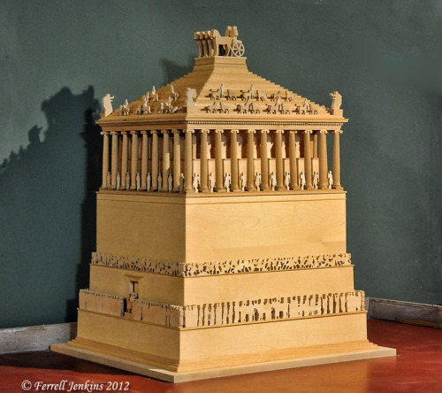 Model of the Tomb of Mausolos at Halicarnassus. Photo by Ferrell Jenkins.