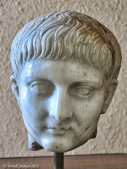 Roman Emperor Augustus. Displayed in Samsun Archaeology Museum. Photo by Ferrell Jenkins.