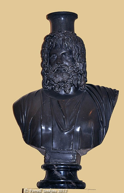 Serapis. Bust in Vatican Museum. Photo by Ferrell Jenkins.