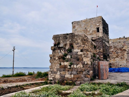 Tower and wall on the Black Sea at Sinop, Turkey. Photo by Ferrell Jenkins.