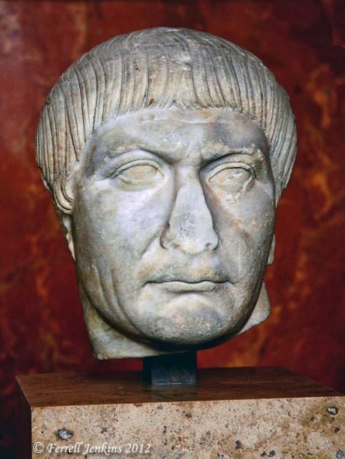 Roman Emperor Trajan in the Louvre. Photo by Ferrell Jenkins.