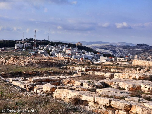Archaeological site and Samaritan village on Mount Gerizim. Photo by Ferrell Jenkins.