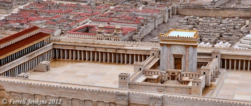 Second Temple Model showing Porticoes. Photo by Ferrell Jenkins.