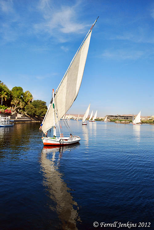 A feluca on the Nile at Aswan. Photo by Ferrell Jenkins.
