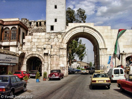 Roman arch at the east end of Straight Street. Photo by Ferrell Jenkins.