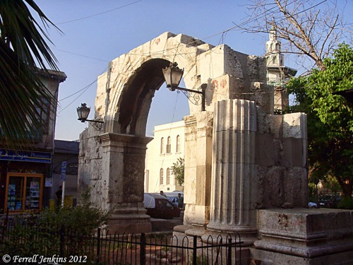 Roman Gate on Straight Street in Damascus. Photo by Ferrell Jenkins.
