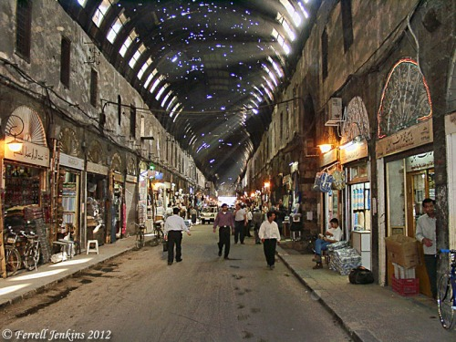 The street called Straight in Damascus (the Via Recta). Photo by Ferrell Jenkins.