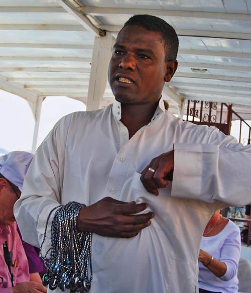 Nubian man at Philae Island near Aswan. Photo by Ferrell Jenkins.