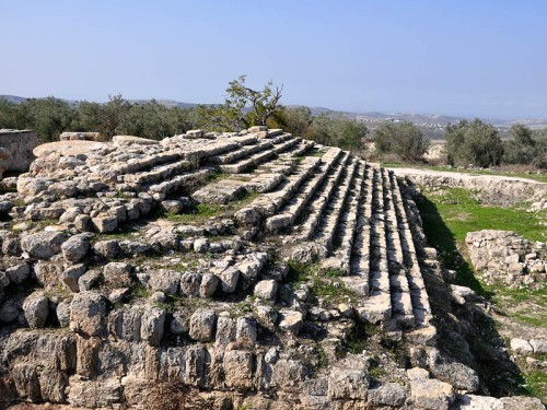 Samaria - Site of Augustus Temple built by Herod the Great. Photo by Ferrell Jenkins.