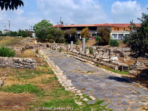 Roman Road at Tarsus in Cilicia. Photo by Ferrell Jenkins.