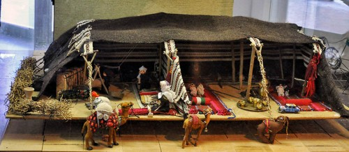 Bedouin Tent Model displayed at the Museum for Beduin Culture. Photo by Ferrell Jenkins.