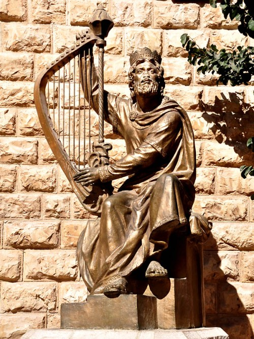 Statue of King David on Mount Zion, Jerusalem. Photo by Ferrell Jenkins.
