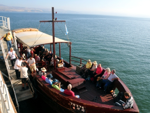 We board our boat from the Ron Beach Hotel in Tiberias. Photo by Ferrell Jenkins.