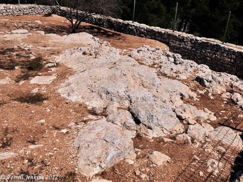 Altar of Isaac on Mt. Gerizim (Samaritan View). Photo by Ferrell Jenkins.