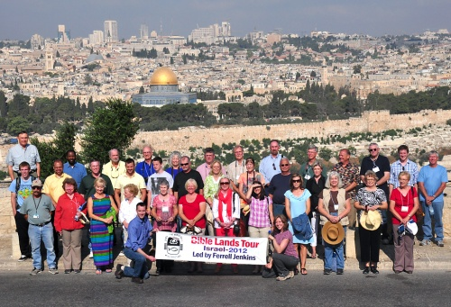 Jenkins Israel 2012 Group Photo from Mount of Olives.