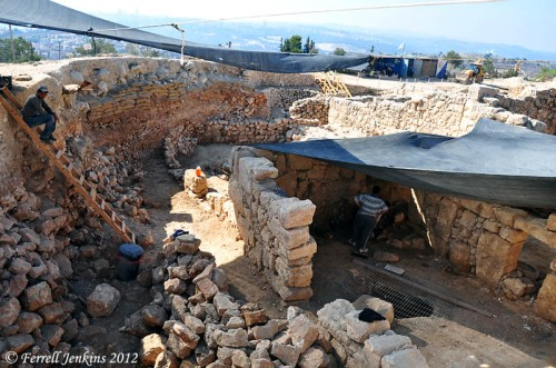 Excavations at Nebi Samwil - Sept. 13, 2012. Photo by Ferrell Jenkins.