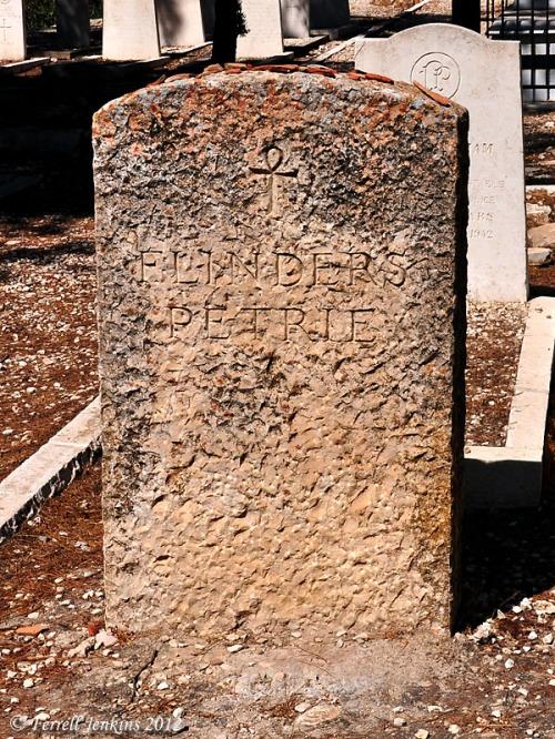 Flinders Petrie Grave in Jerusalem. Photo by Ferrell Jenkins.