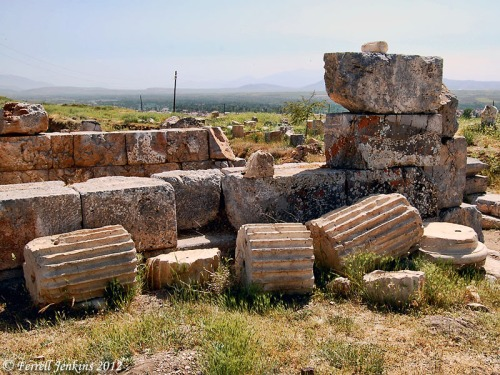 Ruins of the Augustus Imperial Sanctuary at Pisidian Antioch. Photo by Ferrell Jenkins.